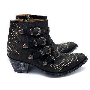 Old Gringo Roxy Studded Ankle Boot Black